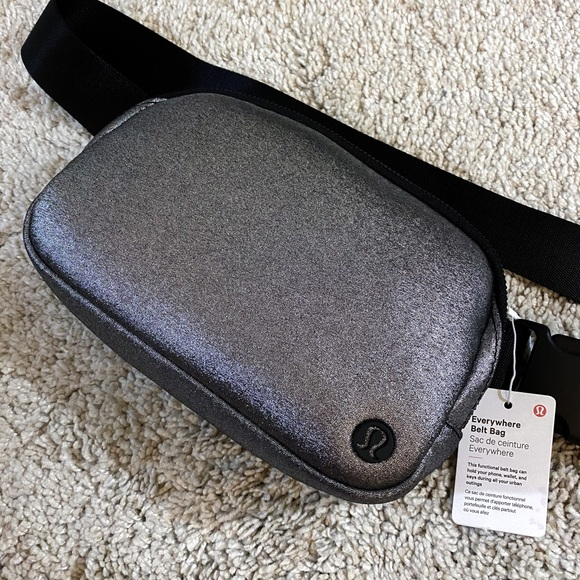 new Lululemon Everywhere Belt Bag metallic silver